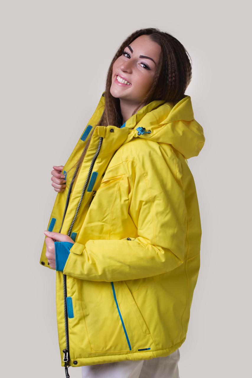 Горнолыжная куртка женская распродажа AV-8601 желтый XL