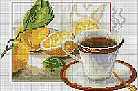"""Набор алмазной вышивки (мозаики) натюрморт """"Чай с лимоном"""""""