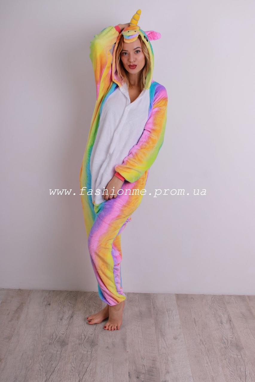 f48eaf0dcf8d7 Пижама Кигуруми Единорог радужный, оригинальная мягкая и теплая - Модные  вещи оптом и в розницу