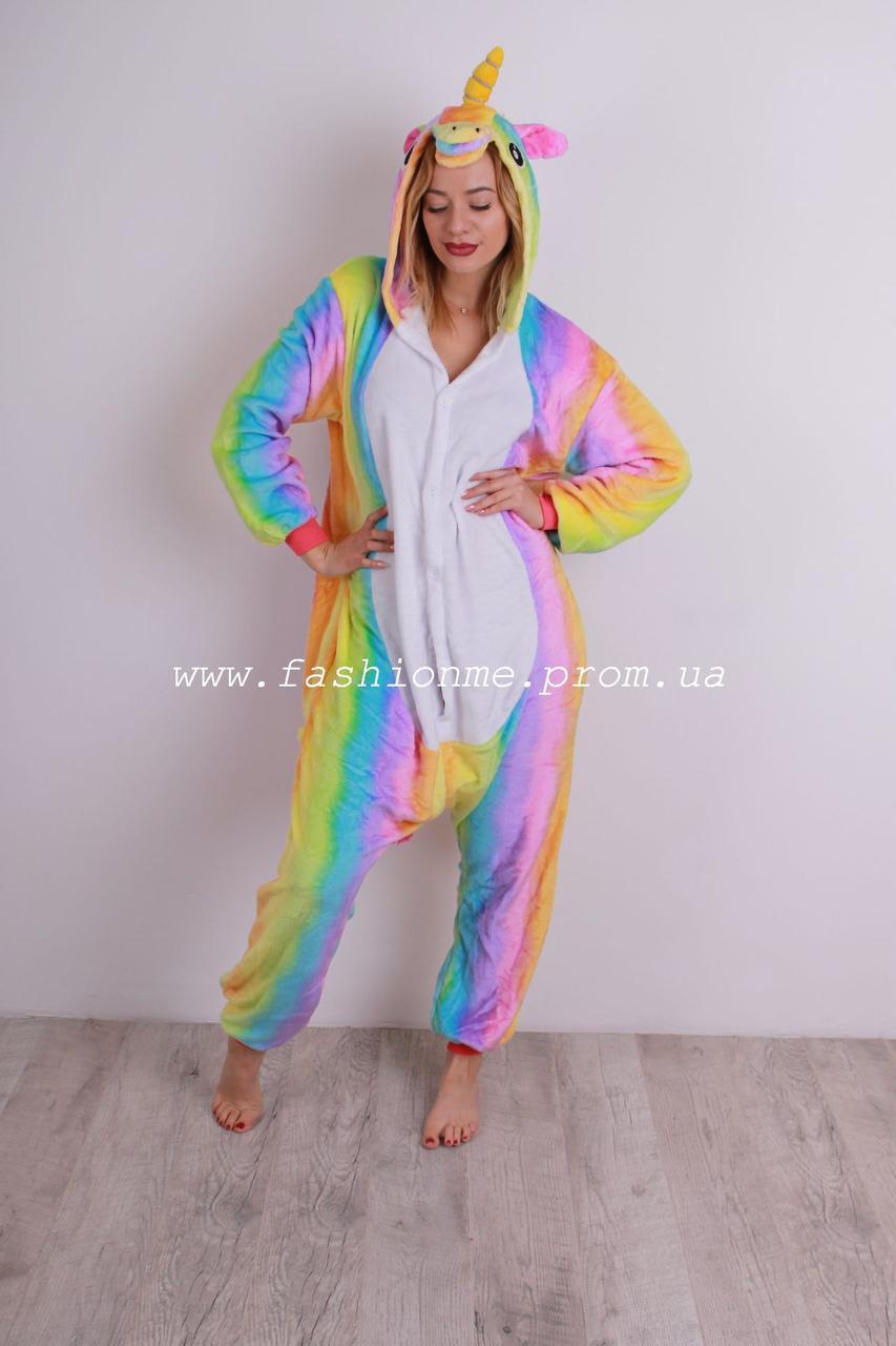 bb0888b248a27 Пижама Кигуруми Единорог радужный, оригинальная мягкая и теплая, цена 699  грн., купить в Хмельницком — Prom.ua (ID#801557668)