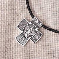 Мужской православный крест (чернение)