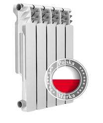 Секційний біметалічний радіатор біметал Pascal 500/100 185Вт Польща 10 секцій