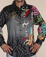 Рубашки мужские Ed Hardy by Cristian Audigier сток оптом