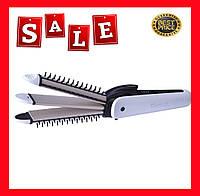 Утюжок для волос профессиональный 3в1 Kemei KM - 6877