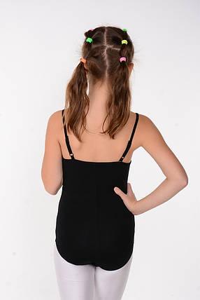 Детский купальник для танцев и гимнастики Черный, фото 2