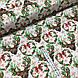 Ткань польская хлопковая, олени с зелеными рождественскими сердечками, фото 2
