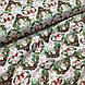 Ткань польская хлопковая, олени с зелеными рождественскими сердечками, фото 4