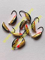 Мормышка вольфрамовая Bravo 2030-151 3.0 мм 0.6 гр. Рижский банан с ушком крашенный