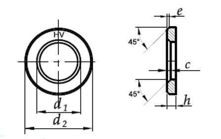Шайба Ф30 DIN 6916 - чертеж