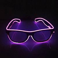 Аксесуар на вечірки SUNROZ LED Glasses світлодіодні окуляри Фіолетовий (SUN2361)
