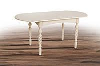 """Стол обеденный раскладной """"Бруно"""" 129/163х74 см. Бежевый, Белый"""