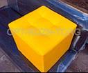 Пуфик стёганый мягкий золото 40 х 40 см., фото 4