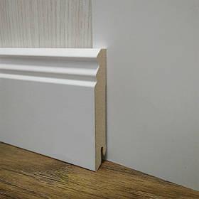 Плінтус МДФ Білий для підлоги високий фігурний, Pedross Італія 18,2х96х2400мм