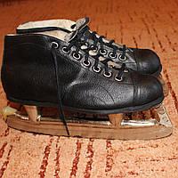 Коньки ретро хоккейные мужские р.36-36,5 винтаж, для коллекции, музея, фотосессии или киносъемок