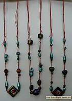 Бусы веревка №108 ЭКС пластмасса цветные