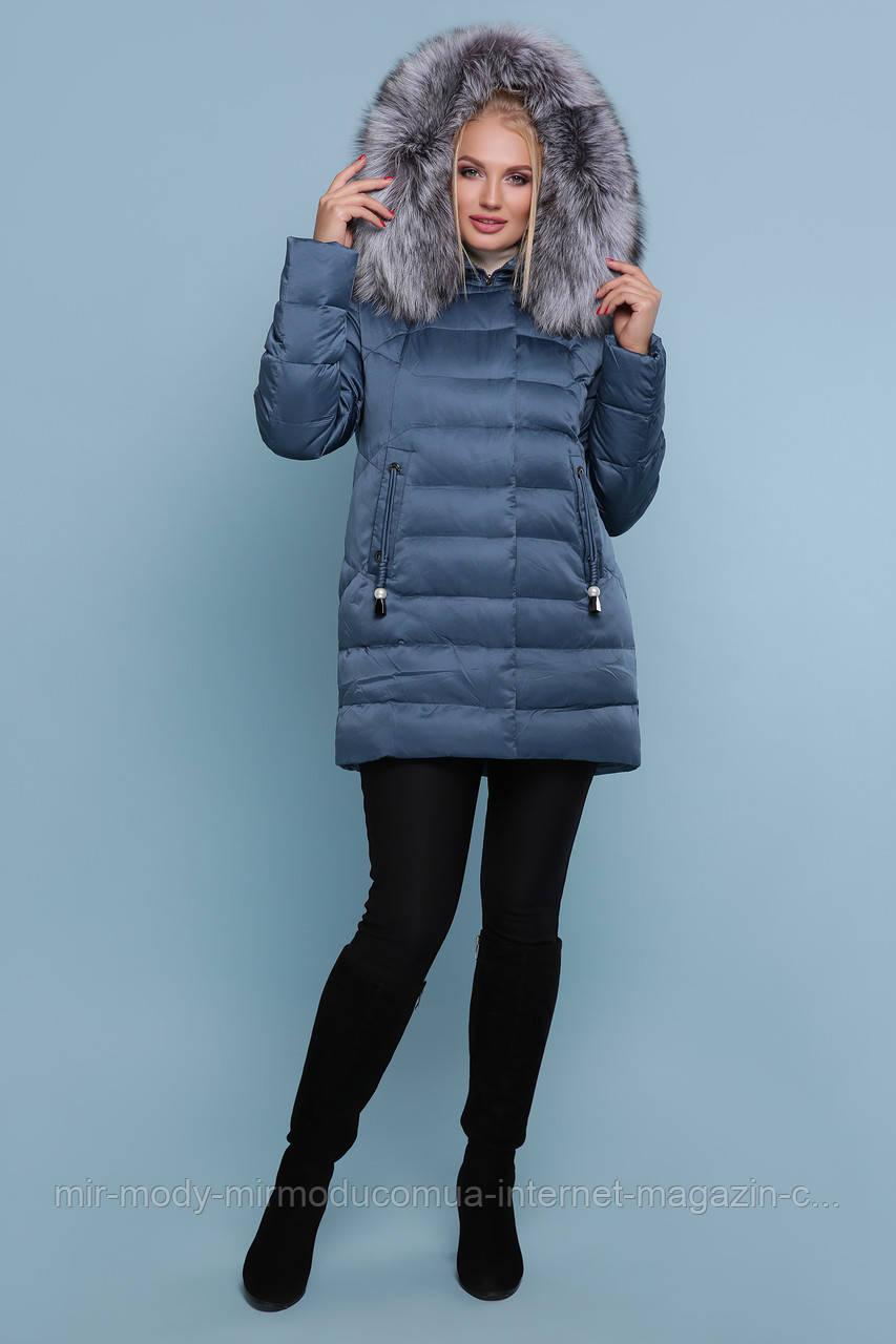Куртка 18-185-Б. Цвет: морская волна ЗИМА размеры баталл (58-60)  (гм)