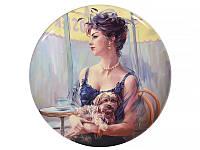 Декоративная тарелка Lefard Дама с собачкой 20 см 924-231