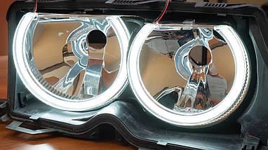 Ангельские глазки crystal angel eyes LED для BMW E38 белый+желтый, фото 3