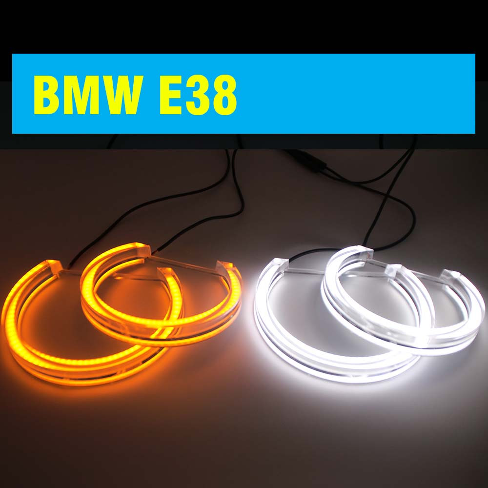 Ангельские глазки crystal angel eyes LED для BMW E38 белый+желтый