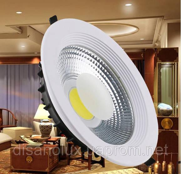 Светодиодный светильник Downlight DL-30Q  LED COB  30w 6000K 220v