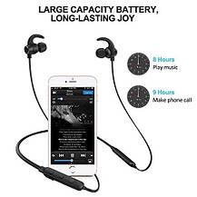 Магнитные Bluetooth наушники беспроводные 4.1 с микрофоном, фото 3