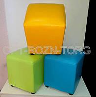 Пуфики квадратные в ярких цветах 35 х 35