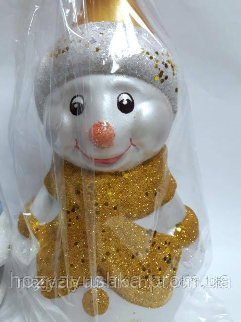 Новогодняя игрушка Снеговик большой под елку