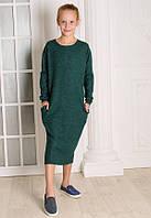Платье для девочки зеленое MilaVa от 8 до 11 лет(128;134;140;146)