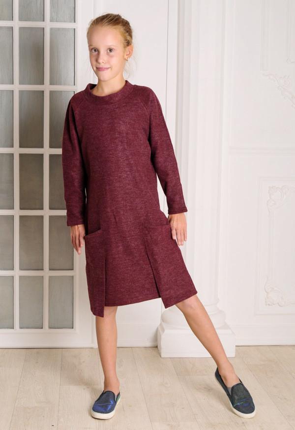 Платье для девочки бордо  MilaVa от 8 до 11 лет(128;134;140;146)