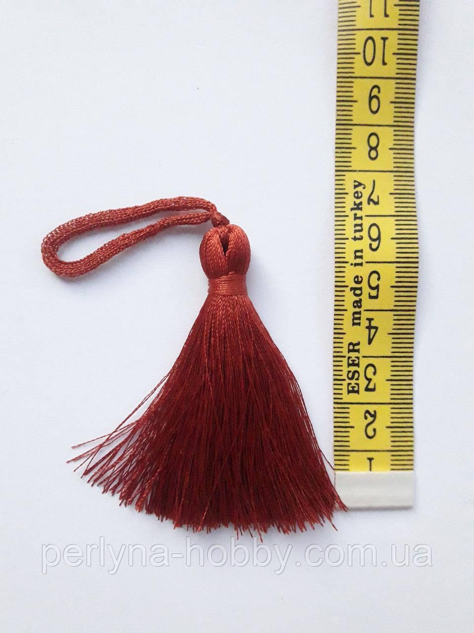Китиця декоративна мала 7 см теракотова 1 шт.