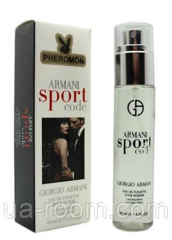 Мужской мини-парфюм с феромоном Giorgio Armani sport code, 45 мл., фото 2