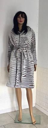 Халат махровый Шиншила с капюшоном, фото 2