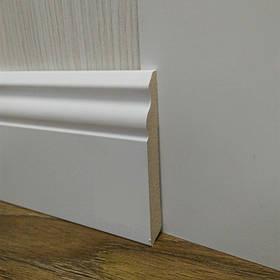 Плинтус высокий напольный МДФ Белый под покраску, Pedross Италия 14,2х100х2400мм