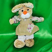 Интерьерная игрушка зайка соломенный 30 см (41206.002)