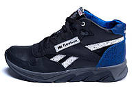 Мужские зимние кожаные кроссовки Reebok blue