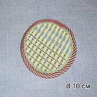 Подставка под горячее бамбуковая соломка круглая 10 см