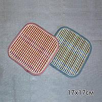 Подставка под горячее бамбуковая соломка квадратная 17х17 см