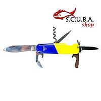 Нож складной многофункциональный Ego A 01.8, сине желтый