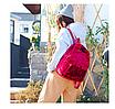 Рюкзак женский городской бархатный Красный, фото 3