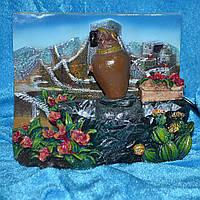 Фонтан декоративный лягушка под цветком 19 см (43805.001)