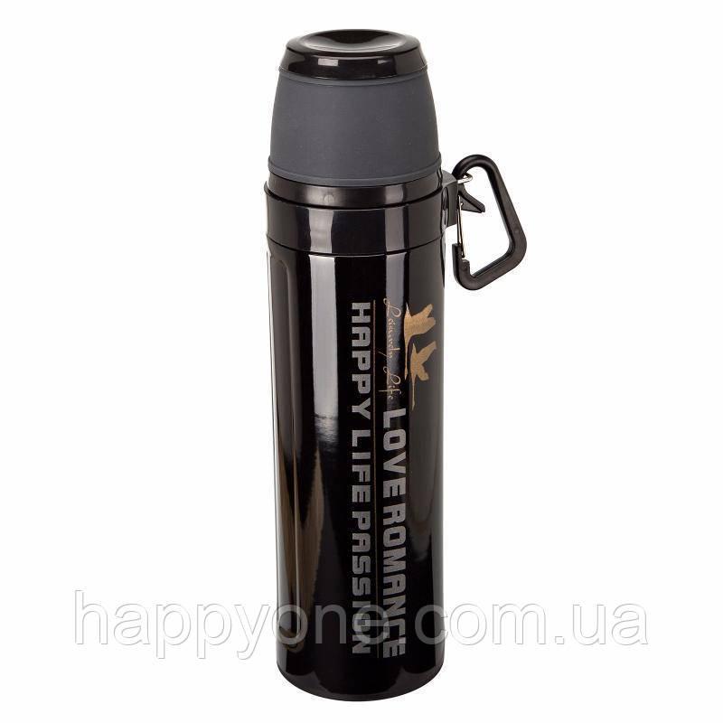Термос Passion с карабином (550 мл) черный