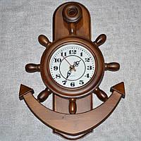 Часы настенные деревянные 34 см якорь (44002.001)