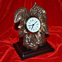 Часы настольные латунные 13 см виноградная гроздь (44003.001)