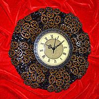 Часы настенные 30х30 см под ореховый срез (44015.002)