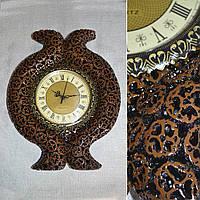 Часы настенные 39х39 под ореховый срез с выступом (44016.001)