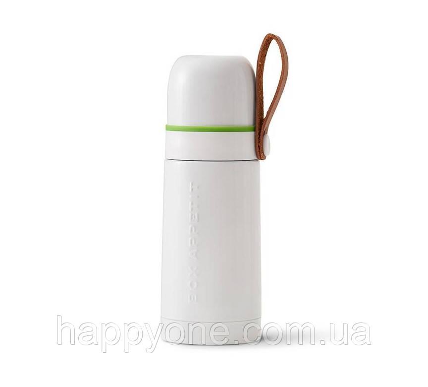 Термос стальной Thermo Flask Black+Blum (белый-зеленый)