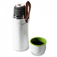 Термос стальной Thermo Flask Black+Blum (белый-зеленый), фото 6