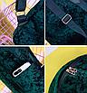 Рюкзак женский городской бархатный Зеленый, фото 5