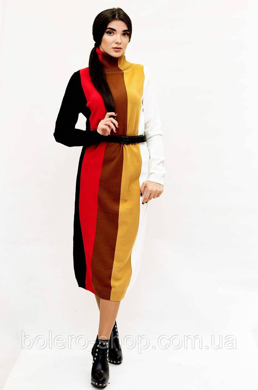 Платье длинное зимнее в полоску  Италия