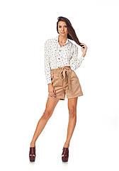Женские шорты с завышенной талией с поясом. Ш014